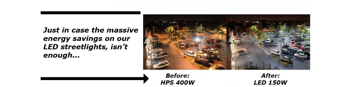 LED Parking Lot Before / After